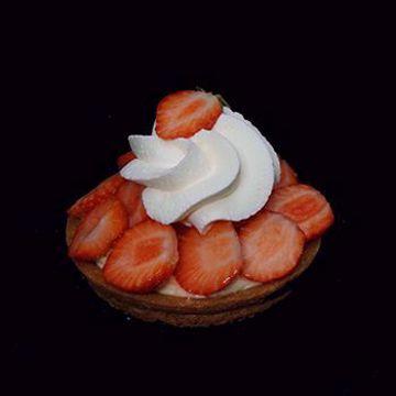Afbeeldingen van Aardbeien harde wener gebakje