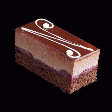 Afbeeldingen van Chocolade bavarois gebak