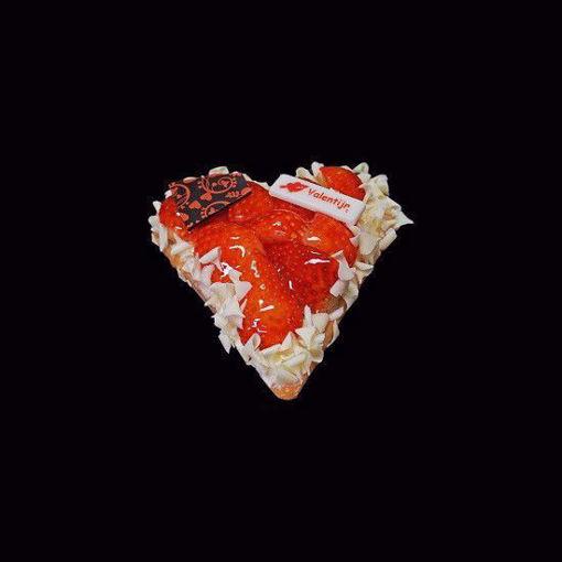 Afbeelding van Vaderdag hart vlaaitje aardbei